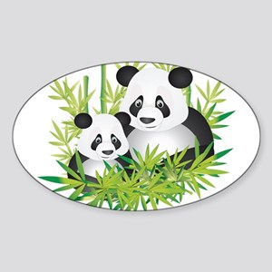 Two Pandas in Bamboo Sticker