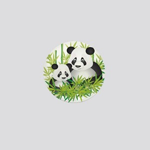 Two Pandas in Bamboo Mini Button