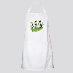 Two Pandas in Bamboo Apron