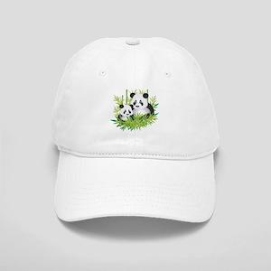 Two Pandas in Bamboo Baseball Cap