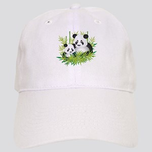 72b8b900479 Two Pandas in Bamboo Baseball Cap