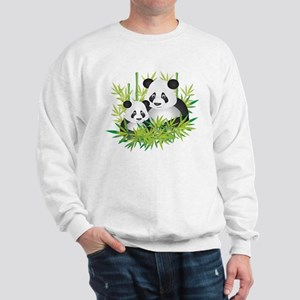 Two Pandas in Bamboo Sweatshirt