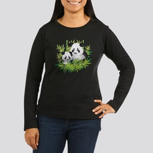 Two Pandas in Bamboo Long Sleeve T-Shirt