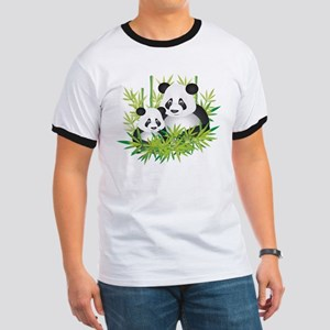 Two Pandas in Bamboo T-Shirt