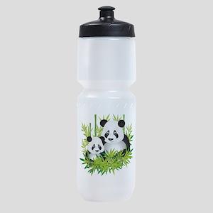 Two Pandas in Bamboo Sports Bottle