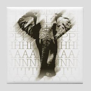 lywelephant-face Tile Coaster