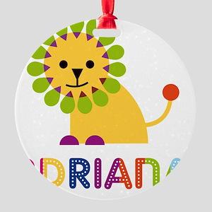 Adriana-the-lion Round Ornament