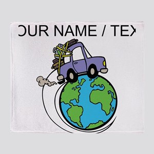 Custom Driving Around The World Throw Blanket