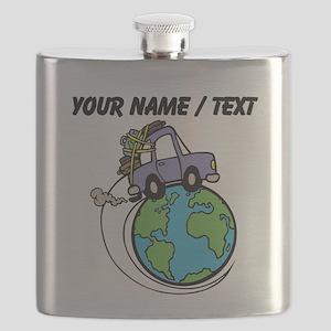 Custom Driving Around The World Flask