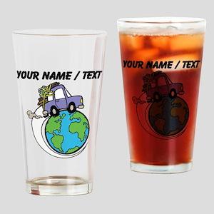 Custom Driving Around The World Drinking Glass