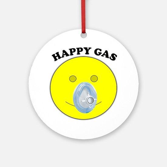 Happy Gas Round Ornament