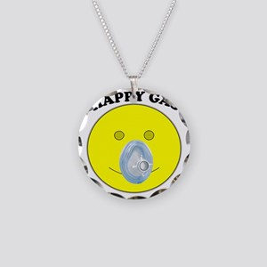 Happy Gas Necklace Circle Charm