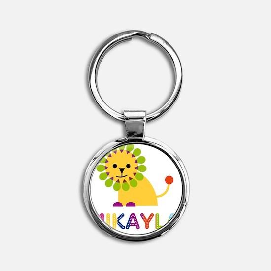 Mikayla-the-lion Round Keychain