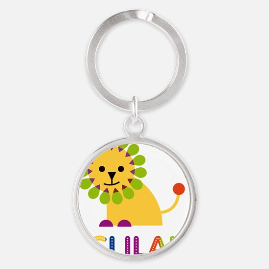 Delilah-the-lion Round Keychain