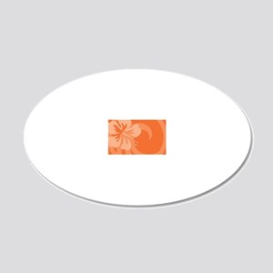 Orange-Toiletry 20x12 Oval Wall Decal