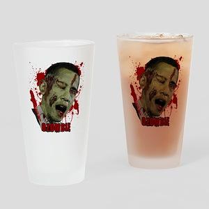 Ozombie black Drinking Glass