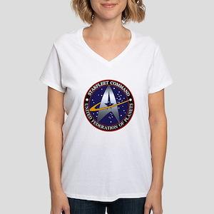 Starfleet Command Women's V-Neck T-Shirt