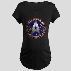 Starfleet Command Maternity Dark T-Shirt