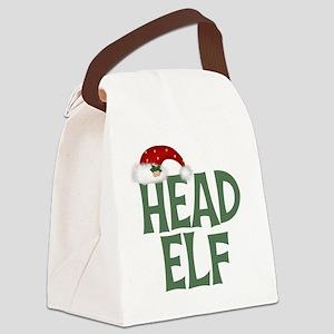 Head Elf Canvas Lunch Bag