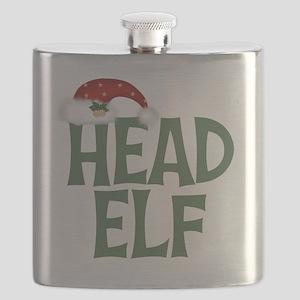 Head Elf Flask