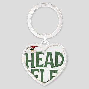 Head Elf Heart Keychain