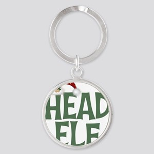 Head Elf Round Keychain