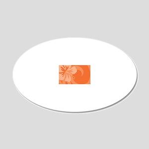 Orange-Clutch 20x12 Oval Wall Decal