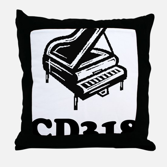 CD318-black Throw Pillow
