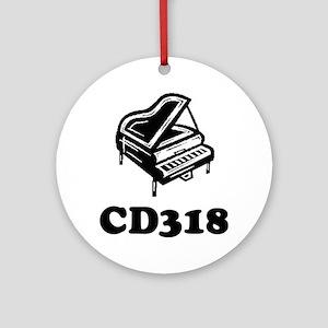 CD318-black Round Ornament
