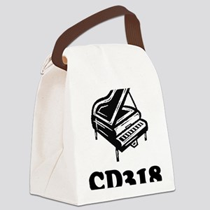 CD318-black Canvas Lunch Bag
