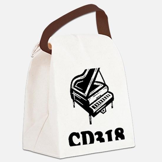 CD318-black Canvas Lunch Bag