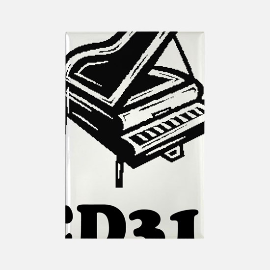 CD318-black Rectangle Magnet