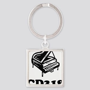 CD318-black Square Keychain