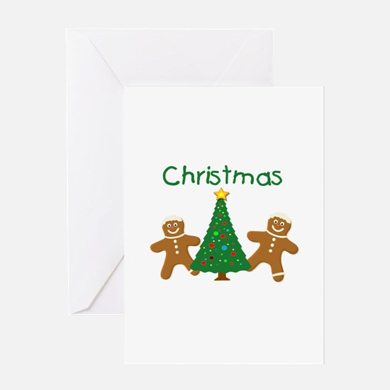 Christmas Gingerbread Men Greeting Card