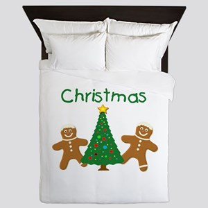 Christmas Gingerbread Men Queen Duvet