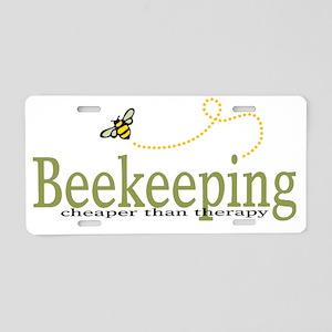 BeeKeeping Aluminum License Plate