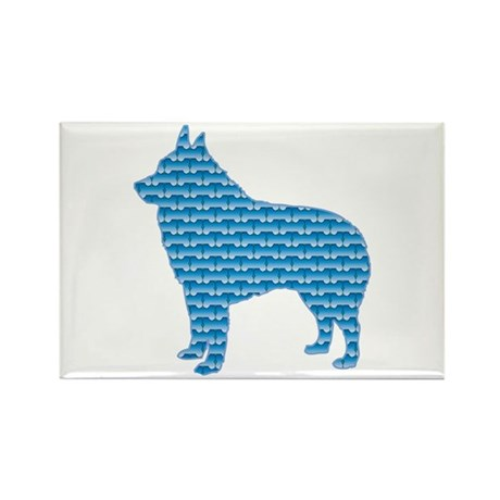 Bone Schipperke Rectangle Magnet (100 pack)