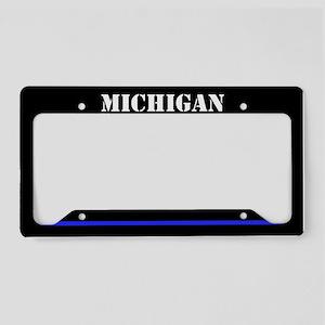 Michigan Police License Plate Holder