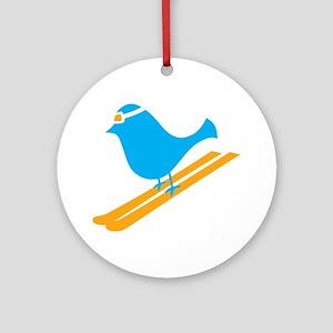 bluebird Round Ornament