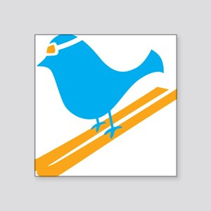 "bluebird Square Sticker 3"" x 3"""