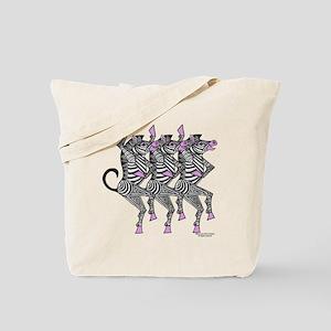 Dancing Zebras Tote Bag