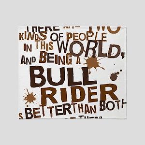 bull_rider_brown Throw Blanket