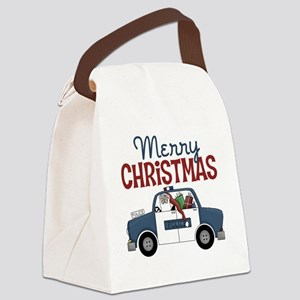Merry Christmas Police Canvas Lunch Bag