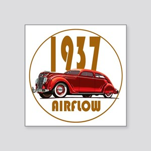 "1937 Airflow-C10trans Square Sticker 3"" x 3"""