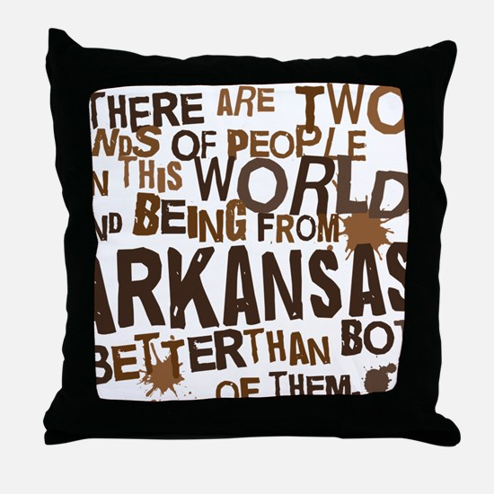 arkansas_brown Throw Pillow