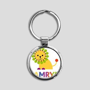Camryn-the-lion Round Keychain