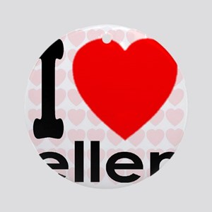 I (Heart) Ellen Round Ornament