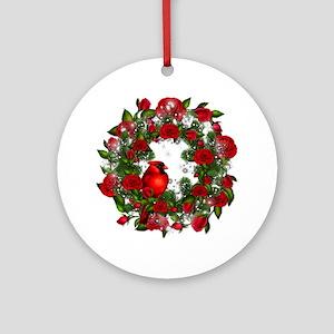 SPARKLING CARDINAL Ornament (Round)