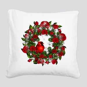 SPARKLING CARDINAL Square Canvas Pillow