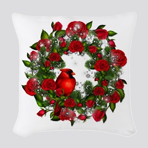 SPARKLING CARDINAL Woven Throw Pillow